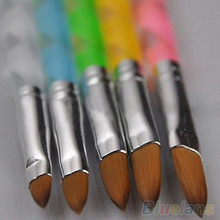 5Pcs Acrylic Design 3D Painting Drawing UV Gel DIY Brush Pen Tool Nail Art Set(China)