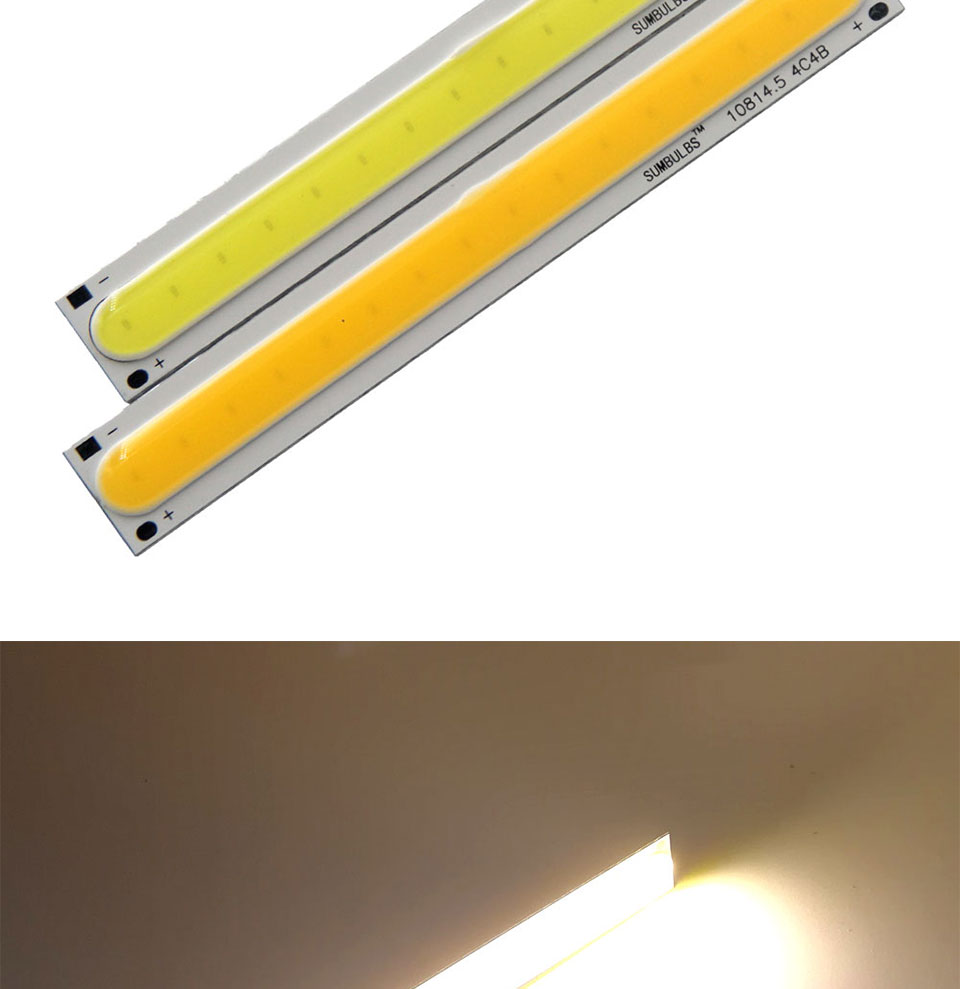 108x15MM 4W Warm Cool White COB LED Light Source Strip Bard Lights DC12V 500LM LED Lamp Bulb DIY Car House Lighting (6)