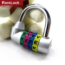 Rarelock 5 Color Zinc Alloy Letter Code Combination Password Lock For Box Door Suitcases Travel Bag Locker Fitting Room Locks a