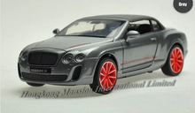 1:32 Scale Alloy Diecast Car Model For Bentley Continental Supersports ISR Collection Pull Back Car With Sound&Light - With Hood(China)