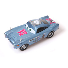 Pixar Cars Diecast Alloy Metal Car Toy Finn McMissile Car Model  Pink Paralympic Emblem London 2012  1:55 Limited Edition