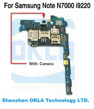 Motherboard With Rear Back Camera For Samsung GALAXY Note N7000 i9220 Mainboard logic Board Multi language HK Europe Version