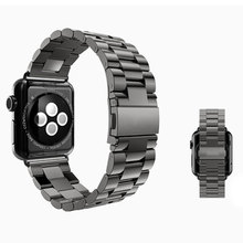 Black 38mm/42mm Stainless Steel Butterfly Lock Link Apple Watch Strap Band iWatch Smart Watches - Guangzhou Bingo Trading Co., Ltd. store