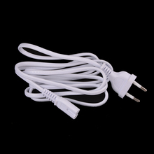 1Pcs 1.5M EU European 2-Prong Port AC Power Cord Cable Slim Power Cable for most printer & laptop AC power adapters White(China)