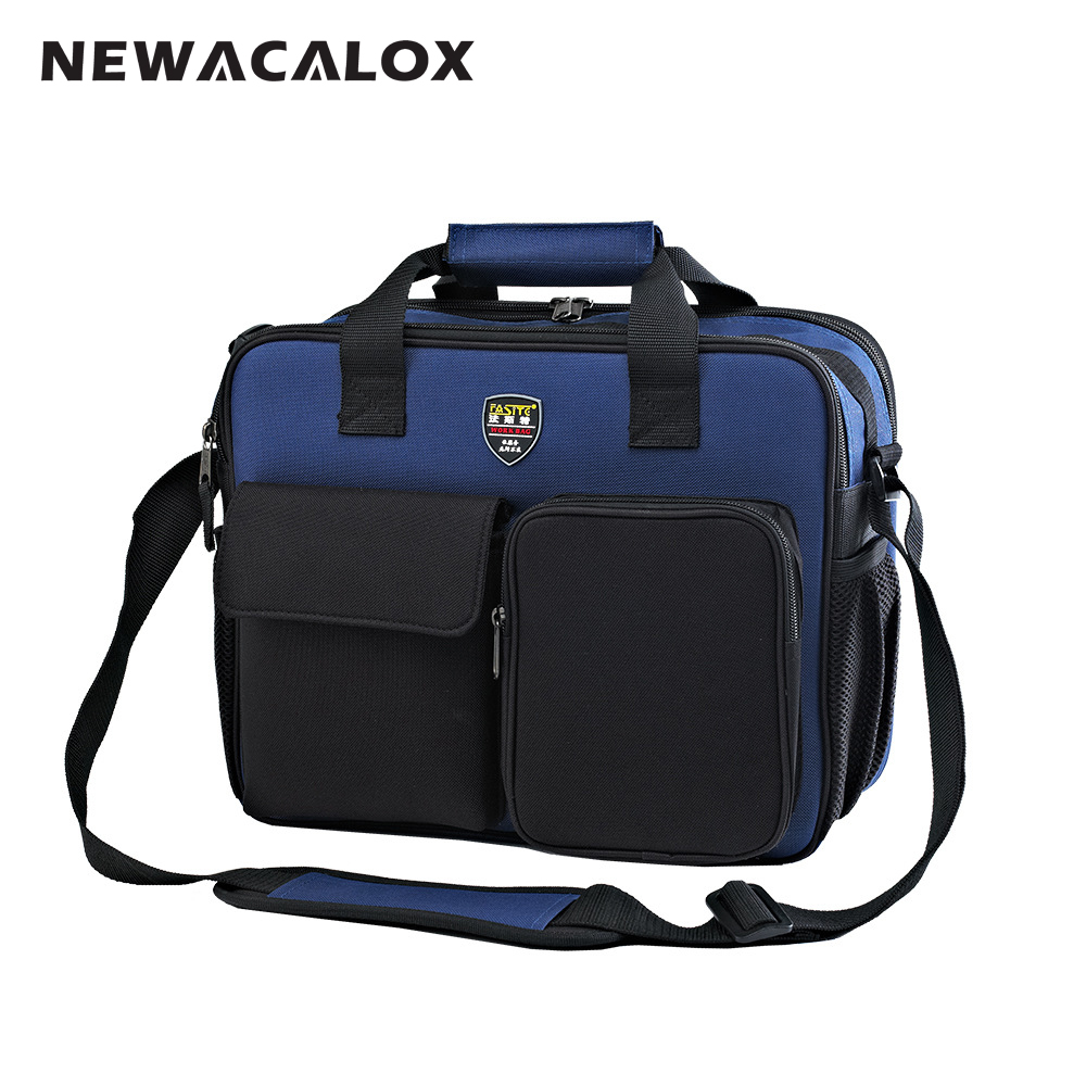 Utility Oxford Fabric Electrician Repair Tool Bag Belt Tool Holder 22 Pockets Hardware Organizer Backpack 34x26x8cm<br>