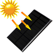 5V 1.25W Monocrystalline Silicon Epoxy Solar Panels Module kits Mini Solar Cells For Charging Cellphone Battery 110x69mm(China)