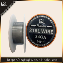 Original Qiuqiu Gold Rolled Wire Bright Soft  Fisnhing  SS 316L Resistance Wire 24ga 50ft for ecigarette wire RDA wire for coils