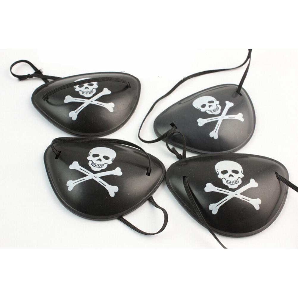 Plastic Pirate Eye Patch Black Party Favors Bag Skull Crossbone Birthday Halloween Party Costume Supplies Kids Toy Party Acc