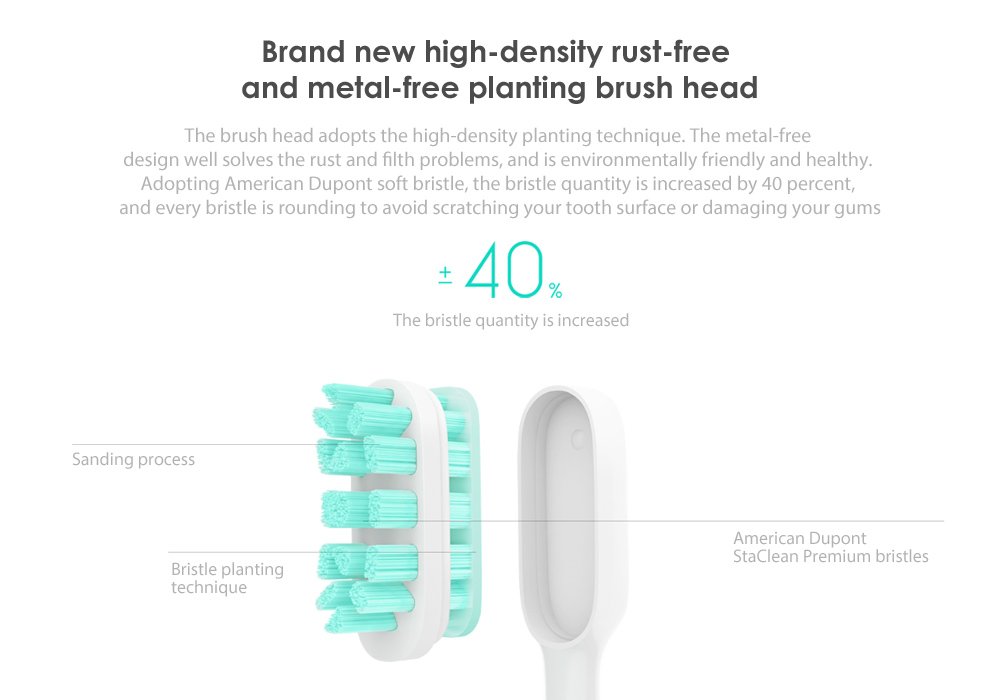 Xiaomi Mijia Smart Sonic Electric Toothbrush IPX7 Waterproof APP Control 18 Days Battery Life KO Soocare