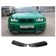 E46 Carbon Fiber Front Bumper Splitter Covers Trim For BMW E46 M3 Bumper Auto Side Bumper Aprons Car Styling