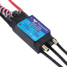 Favourite Shark Series 100A 2-6S LiPo Battery Waterproof Brushless Motor ESC with 5V/5A Switch Mode SBEC for RC Boat Models(China)
