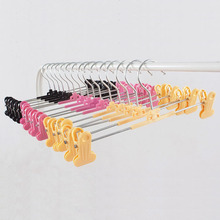 [Free shipping] Colorful Plastic Hanger with Clips for Pants, Skirt and Lingerie (30 Pieces / Lot)(China)