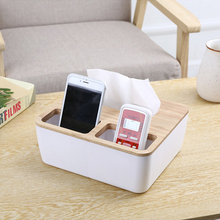 New 4 size Paper Primary color wood oak Car Home Rectangle Shaped Tissue Box Container Towel Napkin Tissue Holder Paper Holder