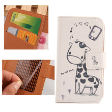 Exyuan Case For DNS S4705 PU Leather colored drawing Cell Phone Accessories Book Design With Card Slot Hot Sell
