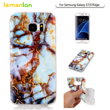 Lemonlan For Samsung S7 Cell Phone Cases,Fashion Stone Series Soft Gel TPU Back Cover for Samsung Galaxy S3 S4 S5 S6 Edge S7edge(China)