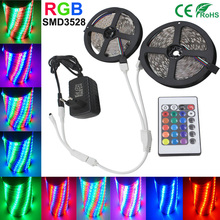 5M 10M RGB LED Strip Light SMD2835 3528 Waterproof Tape Led RGB Strip Flexible Diode Ribbon 15m 20m for 24Keys Controller DC12V