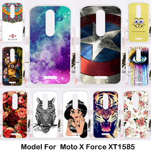 Silicone Phone Cover Case For Motorola Moto X Force XT1585 XT1581 Cases Gel Painted Soft TPU For Motorola Droid Turbo 2 XT1580
