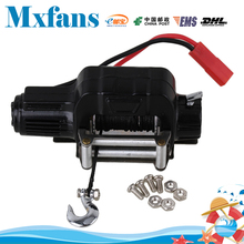 Mxfans Black N10197 Alloy Rock Crawler Electric Winch with Screw for HSP RC1:10 Crawler