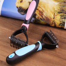 1pc Pet Grooming Brush Cleaner Stainless Pet Dog Cat Dog Soft Plastic Handle Brush Fur Comb 11 Blades Dogs Pet Cleaning Tool