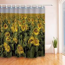 CHARM HOME Fram Sunflowers Polyester Fabric Bathroom