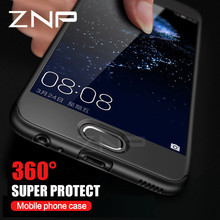 ZNP 360 Degree Full Coverage Case For Huawei P9 P10 lite P10 Plus Cover Phone Case For Huawei Honor 9 Cases With Glass Film(China)