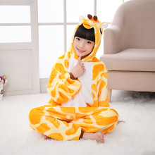Children's Wear Cartoon Animals Home Pajamas for Boy Girl Autumn Winter Warm Soft Fur Black White Clothes Super Cute 2T To 10T(China)