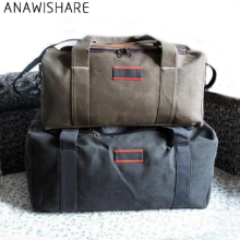 ANAWISHARE Men Travel Bags Large Capacity Women Luggage Travel Duffle Bags Canvas Big Travel Handbag Folding Trip Bag Waterproof(China)