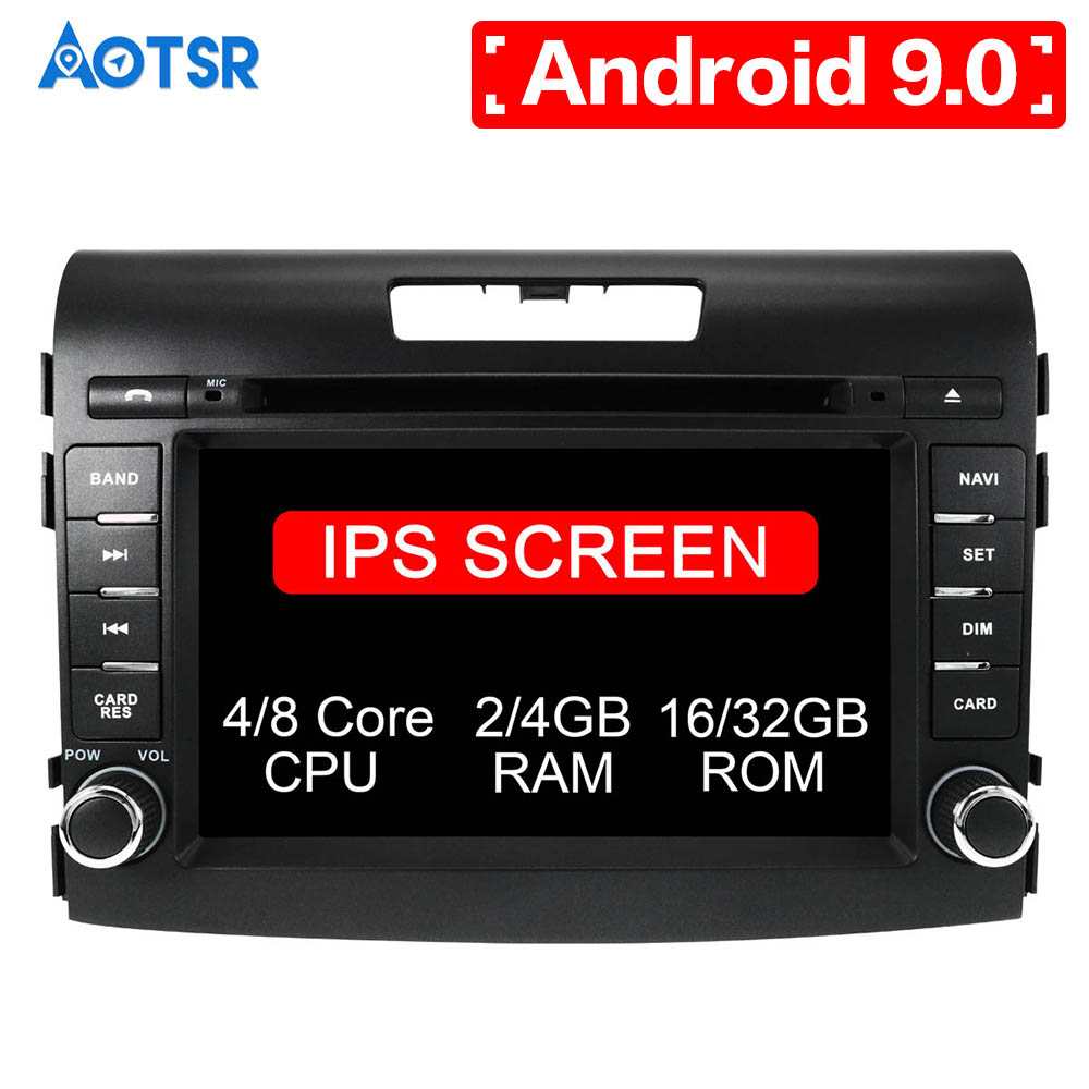"7"" two din android 9.0 8core car dvd player for honda crv CR-V 2012-2016 car audio stereo octa core 4G RAM wifi 32G ROM headunit"