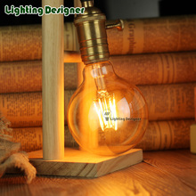 G95 LED edison bulb light vintage lamp Amber color 220V E27 4W Retro LED filament bulb pendant lamp bulb table Antique lamp bulb