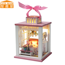 Hot Sale DIY Doll House Wooden Miniatura Doll Houses Miniature dollhouse With Furniture LED Lights Birthday Gift M022