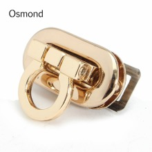 Osmond 2017 Fashion Women Alloy Handbag Bag Accessories Buckle Twist Turn Lock Snap Clasps Closure for Purse Handbag Bag(China)