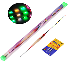 Sougayilang LED Fishing Float Electric Float Light + Battery Deep Water Float Fishing Tackle 3pcs/set Bobber Fishing Gear(China)
