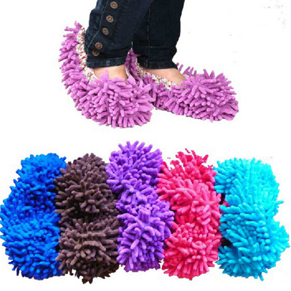 1 PCS Cover Microfiber Floor Cleaner Dust Cleaner Grazing Slippers House Bathroom Cleaning Mop Slipper Lazy Shoes