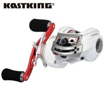 Kastking whitemax perfil bajo 5.3: 1 gear ratio baitcasting carrete de la pesca del bastidor de cebo carrete 8 kg de arrastre para el lago pesca fluvial