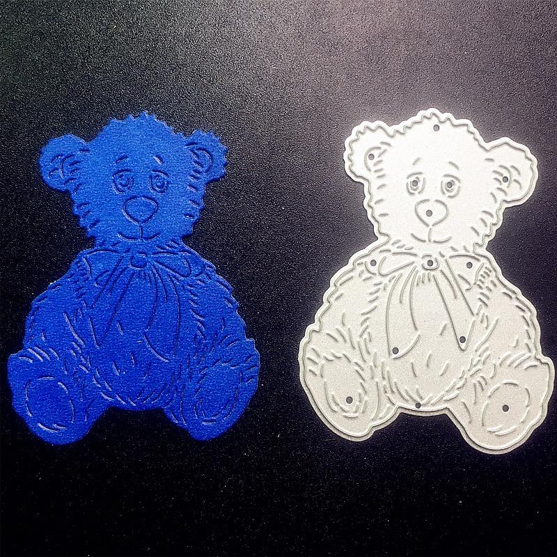 Bear Cutting Dies Stencil Scrapbooking Paper Cards Craft Embossing DIY Die-Cut