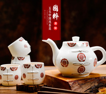 5pcs set, fine bone china tea set, novalty design chinese painting, dessert cups for afternoon, home decoration, kungfu tea set