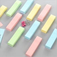 Korean Creative Stationery Post-it Sticky Notes 400 Sheets Pure Color Self-adhesive Memo Pads Student Index Check List Notepad
