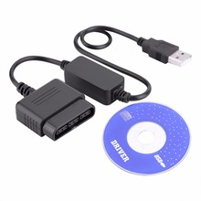 for PS2 To for PS3 /PC Game Controller Joystick To USB Converter Adaptor with Drive CD For Sony PlayStation 3 console /PC new