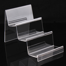 Earphone display shelf 3 layer commodity shelf clear acrylic wallets show digital items stand jewelry organizer factory price