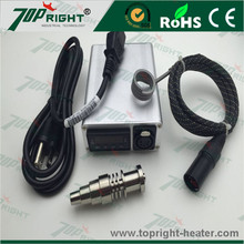 Sliver electric single control box with ID16mm hot runner coil heater and titanium nail(China)