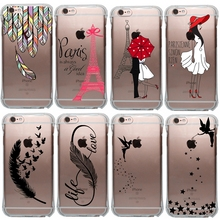 Tinker Bell Design Security Airbag Anti-knock Soft TPU Silicone Case Cover For Apple iPhone 5 5S SE 6 6S Plus(China)