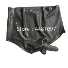 Buy Sexy Rubber Latex Transparent Underwear Condom Safe Short Pants mens panties Sexy dildo fetish chastity device
