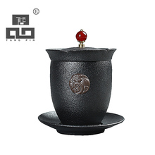 TANGPIN 2017 new arrival japanese black crockery teapot ceramic gaiwan tea cup mug chinese kung fu tea set drinkware
