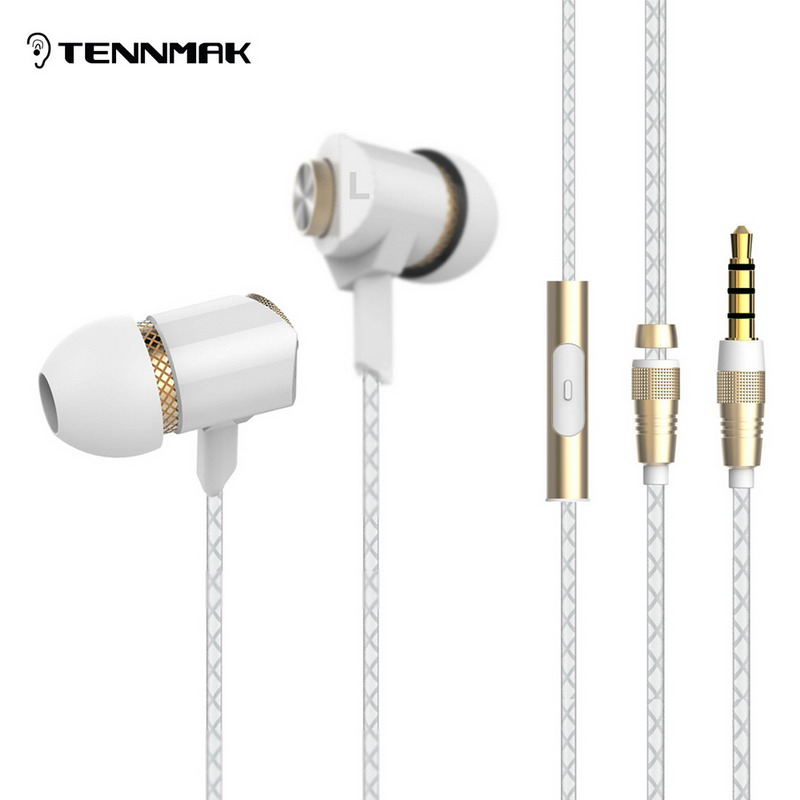 Tennmak Metal In Ear Earphones Earbud with Microphone and Remote jack 3.5 earphone and headfree ecouteur vs se215 ie800 ie80<br><br>Aliexpress