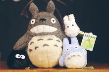 New Original My Neighbor Totoro Blue totoro White totoro Dust Plush Family Set Doll Kids Toys Ghibli Set of 4(China)