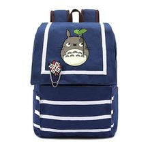 Anime Tonari no Totoro Cosplay Schoolbags female canvas shoulder bag navy birthday gift Japanese Totoro bags