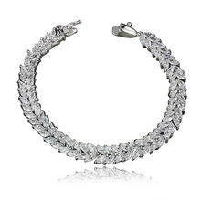 Stainless Steel Women's Health Energy With Magnetic Stone Bracelet Female CZ Crystal Bracelets Bangles In Jewelry(China)