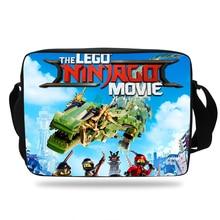 2018 Hot Popluar Movie Ninjago Printing School Shoulder Messenger Bag Kids Boys Girls LEGO Book bags Children