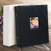 2017 new leather inserts photo album 4R 6 inch or 7 inch large children photo album(China)