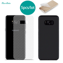 5pc/lot screen protector film guard mobile phone screen saver cover carbon fiber for Samsung galaxy s6 edge plus s7 edge s8 plus